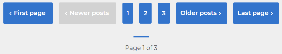 An image of my Hugo themes new pagination